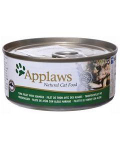 Applaws Cat Lata 70gr Filete de Atún y Algas 6x70 (12uds)
