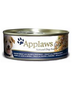 Applaws Dog Lata 156gr Pechuga de Pollo, Salmón y Vegetales 6x156 (12uds)