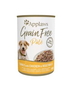 Applaws GF Dog Paté Lata 400g Pavo y Pollo Con Vegetales (6uds)