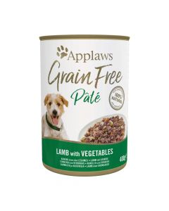 Applaws GF Dog Paté Lata 400g Cordero Con Vegetales (6uds)
