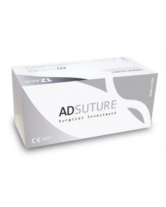 AD SUTURE PDX USP 2/0 Aguja 3/8 Circ Pta Triang 24 mm 70cm (12uds)