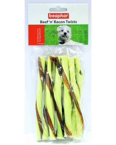 Beaphar Palitos Twists Buey Y Bacon 8 Uds. 12 Cm