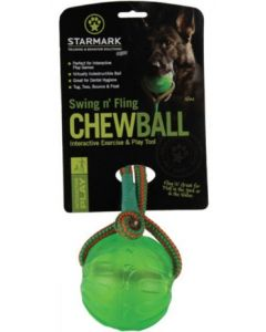 Swing & Fling Chew Ball    -    M/L, 9 cm