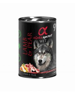 Alpha Spirit Wet Dog Cordero con Pera 400g (6uds)