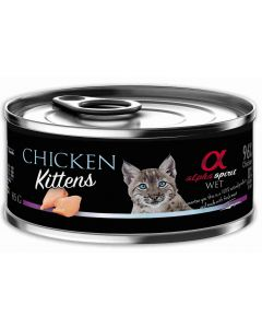 Alpha Spirit Wet Cat Kitten Pollo 85Gr (18Uds)
