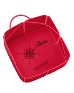 Silicone Fold-Travel bowl List 590 ml red