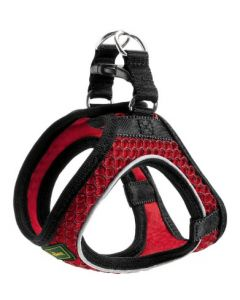 Harness Hilo Comfort XXL mesh, red with refl. bise