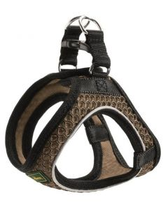 Harness Hilo Comfort M mesh, brown with refl. bise