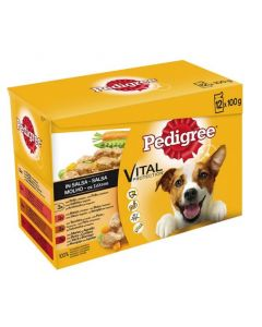 Pedigree Bolsitas 12Pack Salsa Mixto 12x100 (4uds)