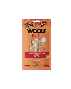 Woolf Earth Flat Bar with Beef M 90gr (10uds)